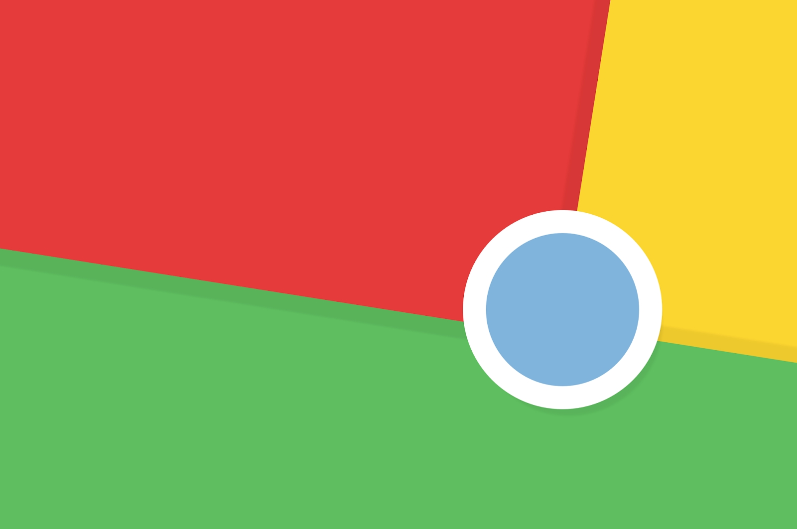 google chrome logotipo principal em wallpaper