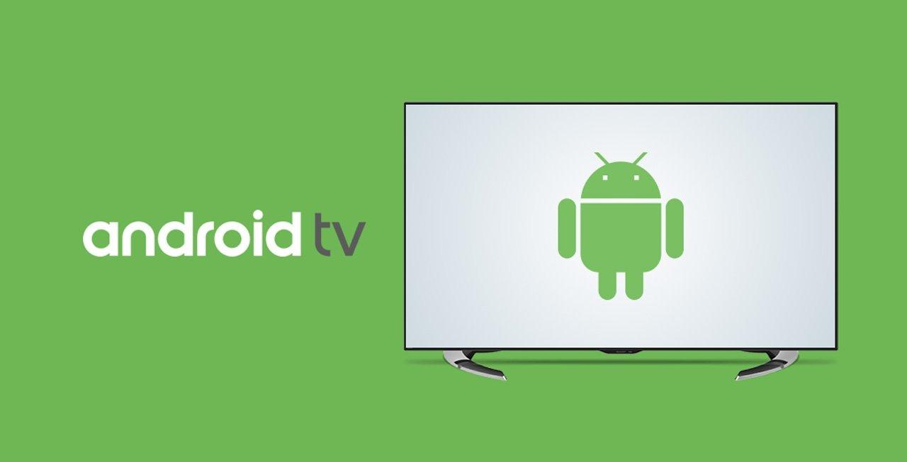 androi tv logotipo da empresa numa televisão
