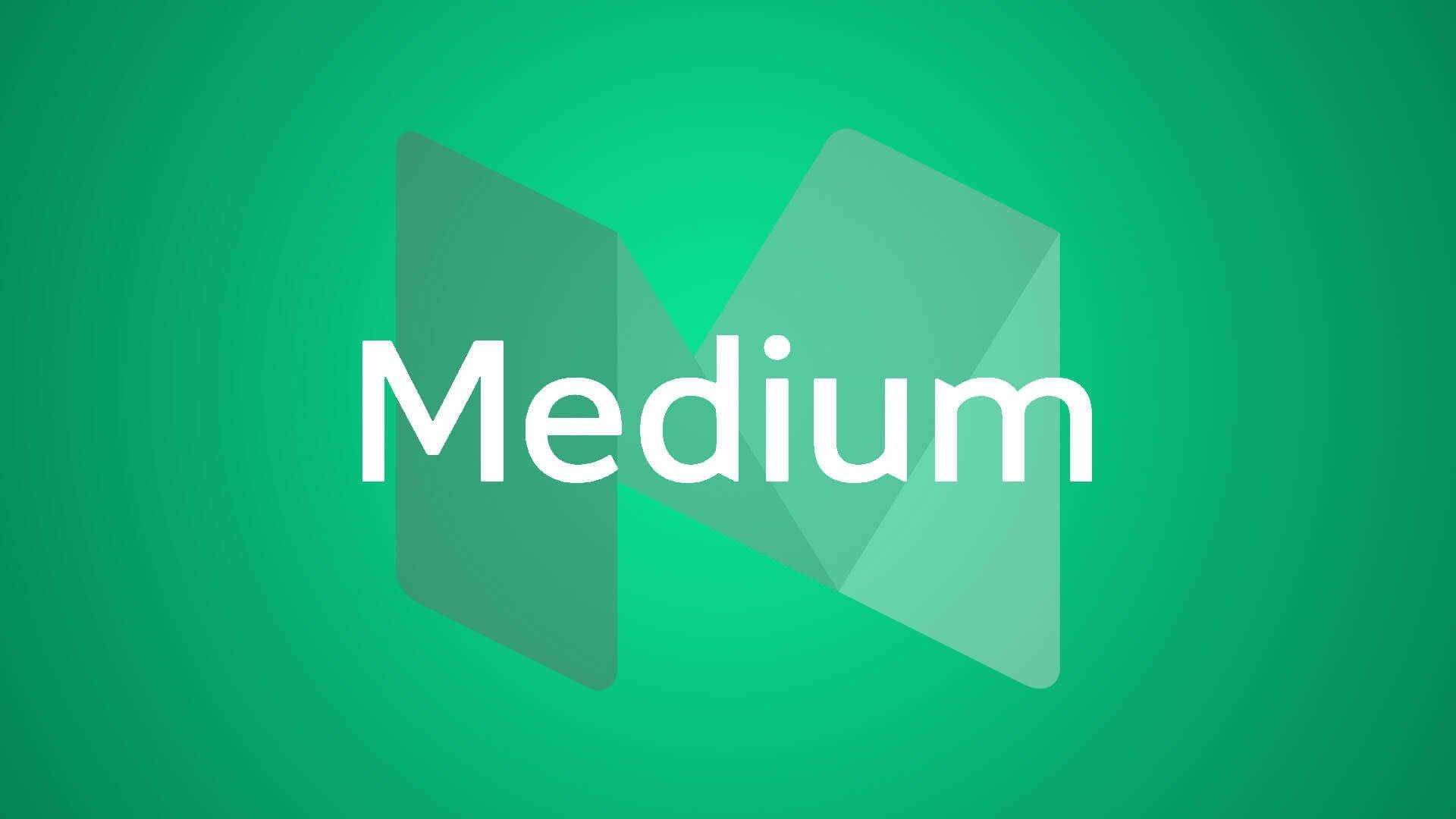 logotipo da medium