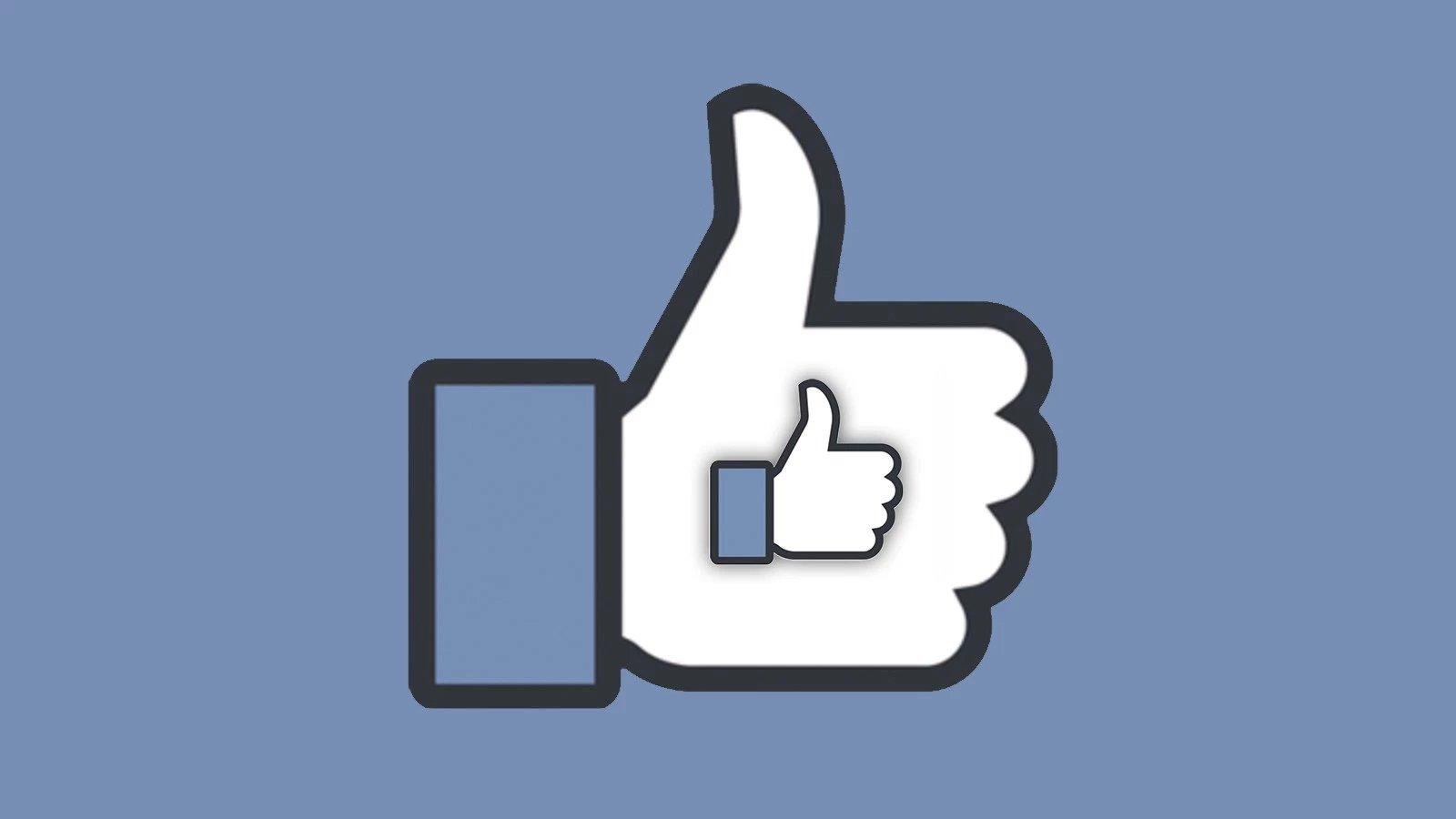 facebook com o ícone do Gosto
