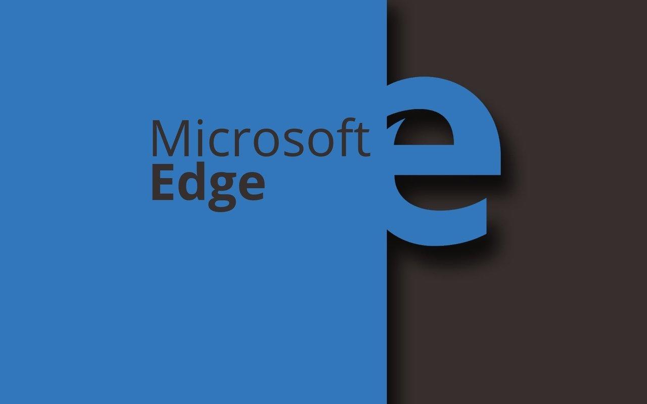 microsoft edge num logotipo azul