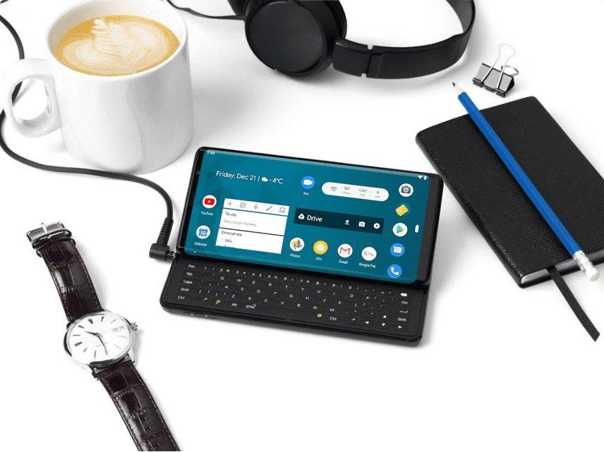 ecrã e teclado fisico do fxtec pro 1