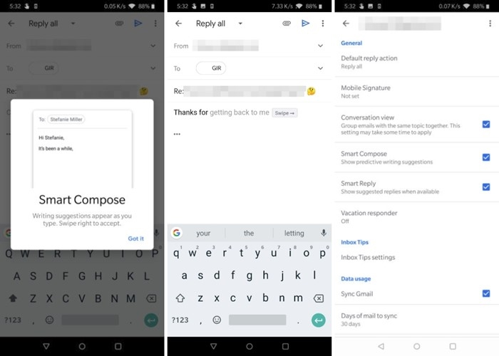 smart compose da Google no gmail