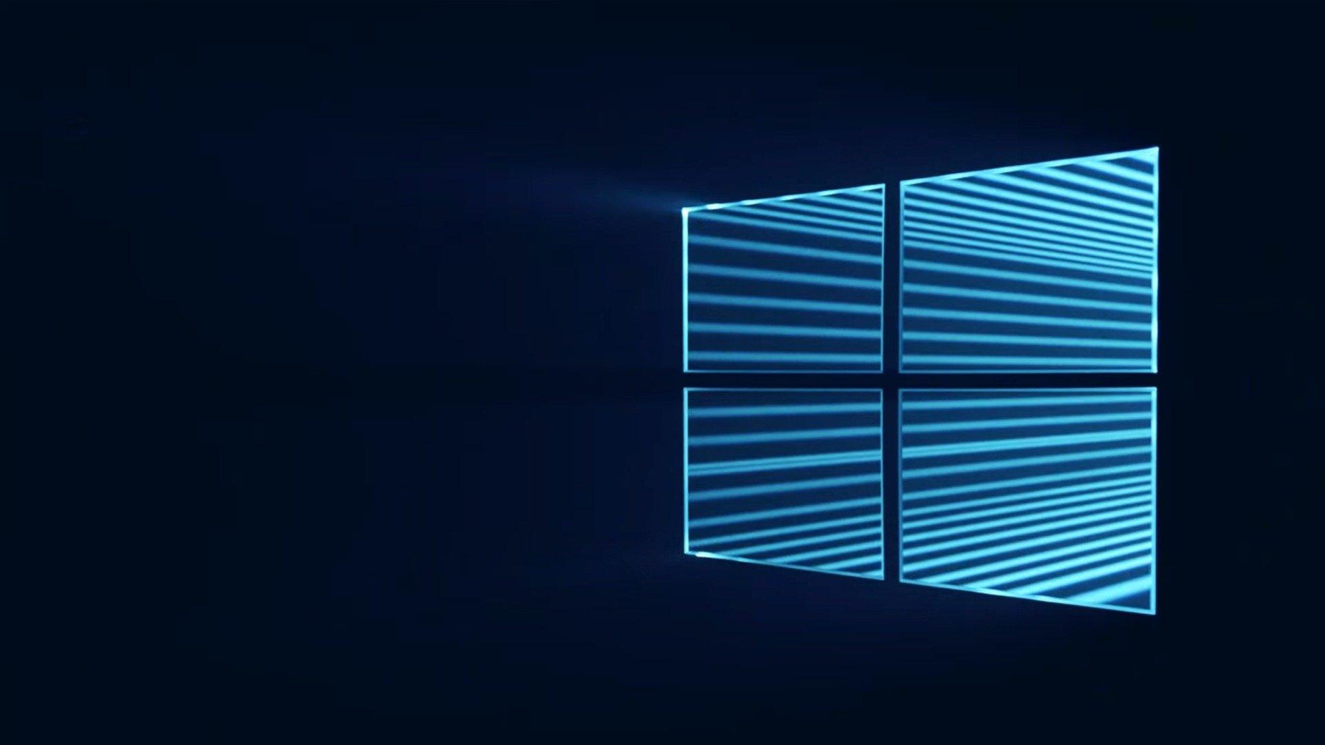 Windows 10 logotipo em luz