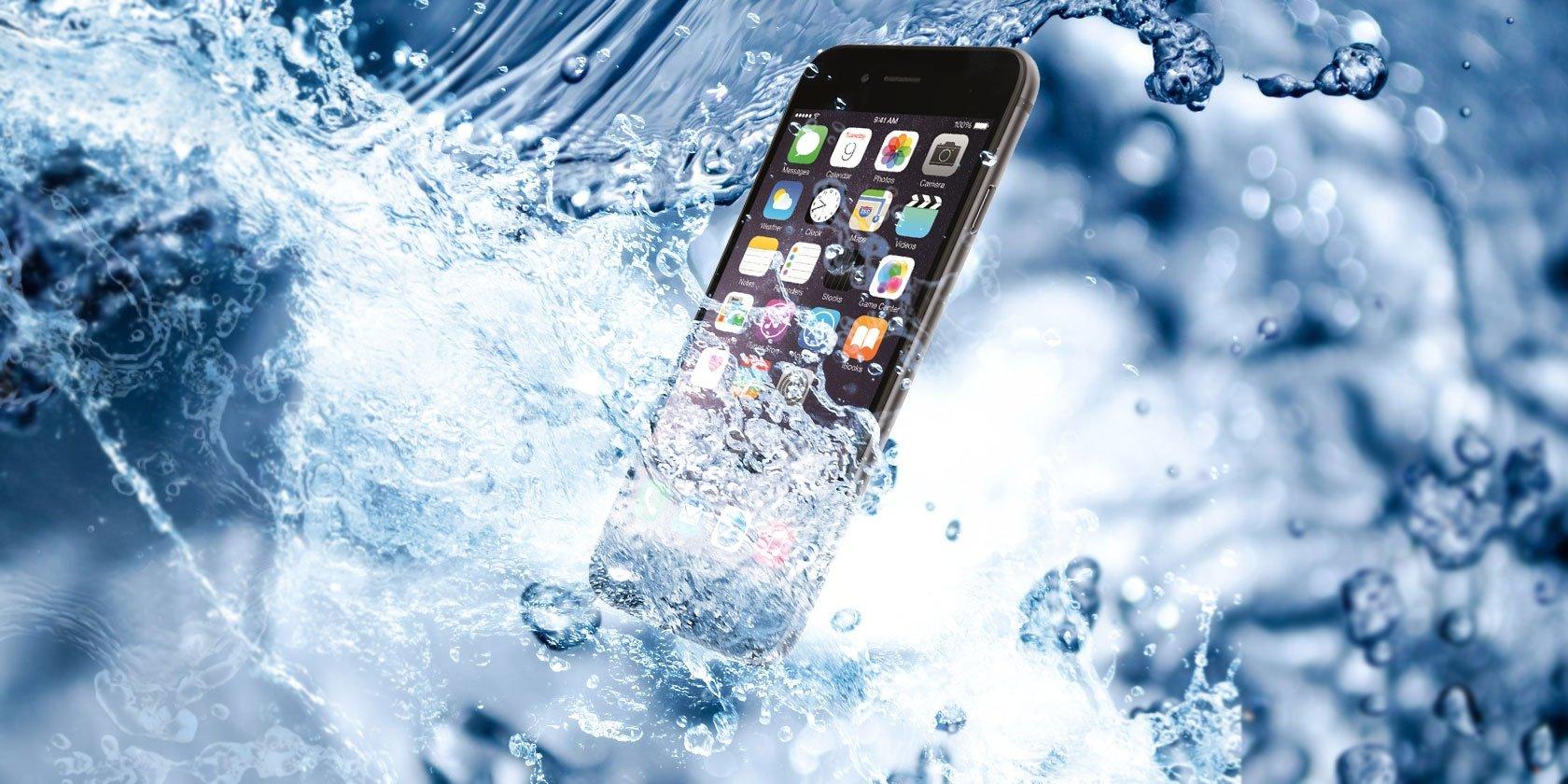 iPhone com água