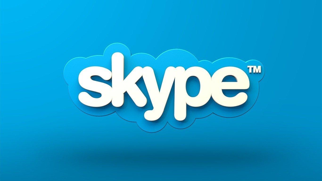 skype logo na internet