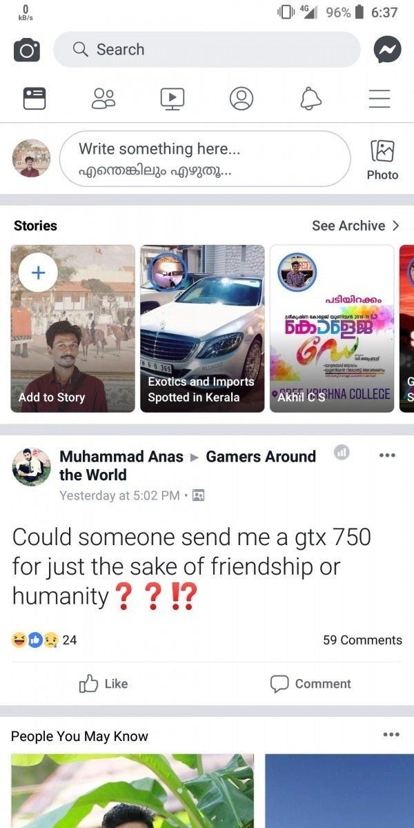 novo estilo do facebook em branco