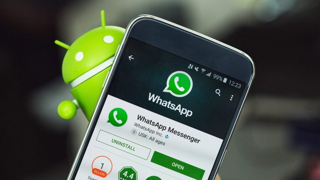 WhatsApp em smartphone android