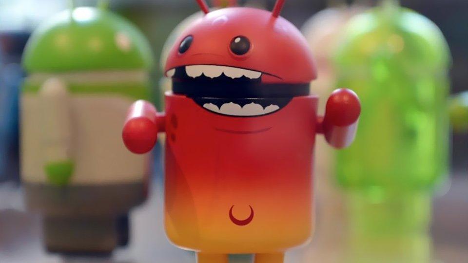 boneco do android com malware