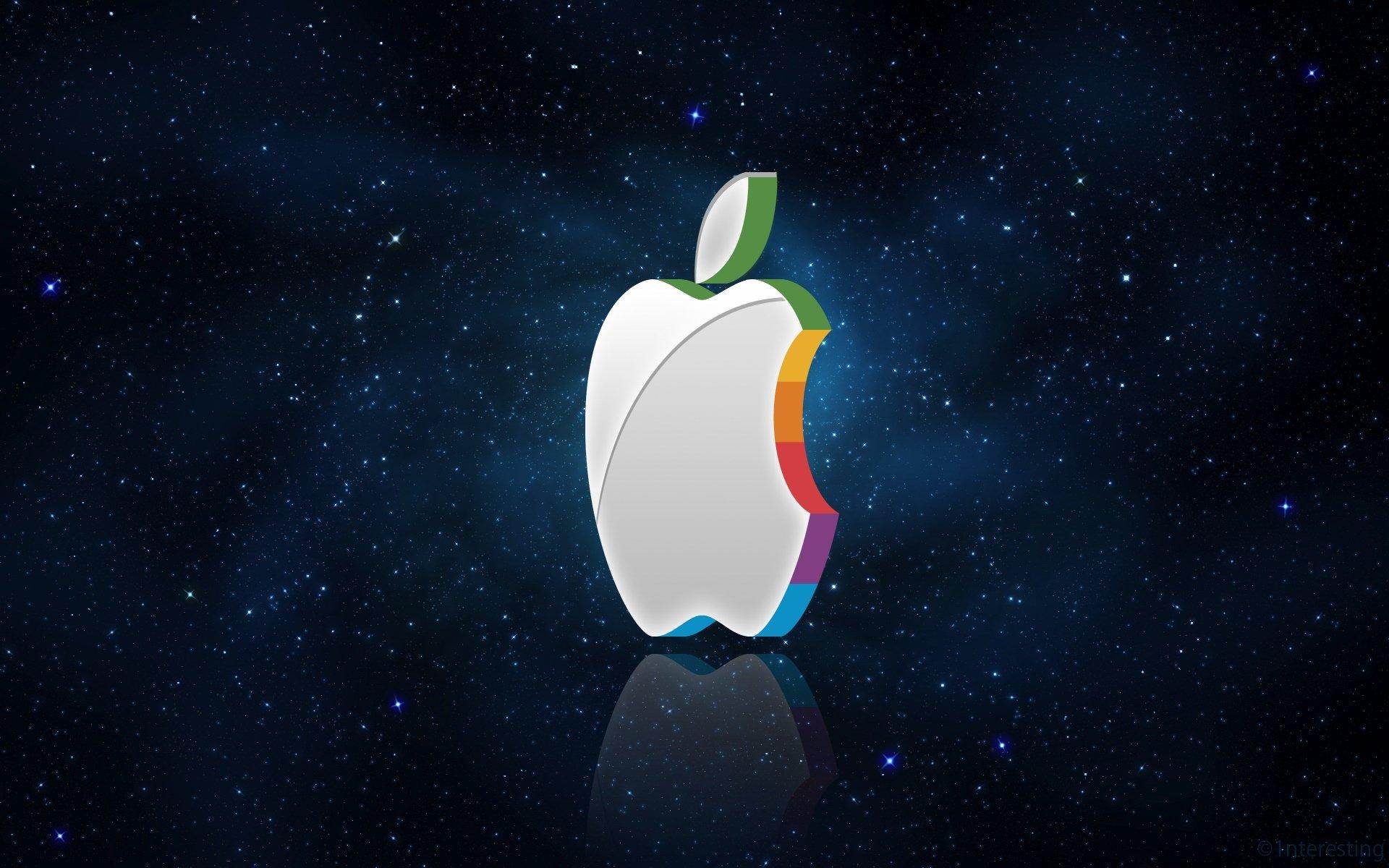 logotipo da apple em cores vivas