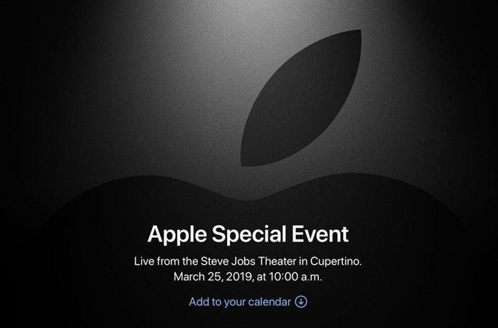 convite da Apple para 25 de março