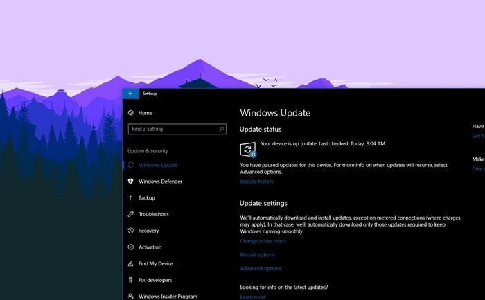 windows update do windows 10
