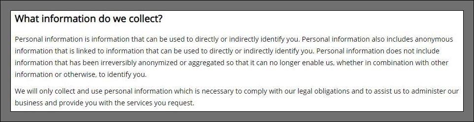 política de privacidade da Gearbest