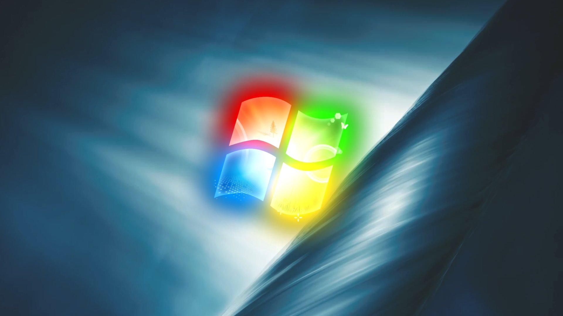 Logo do windows sobre wallpaper