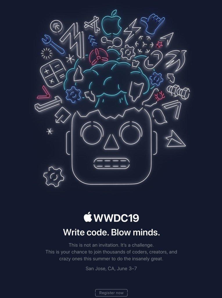 convite da apple para WWDC 2019