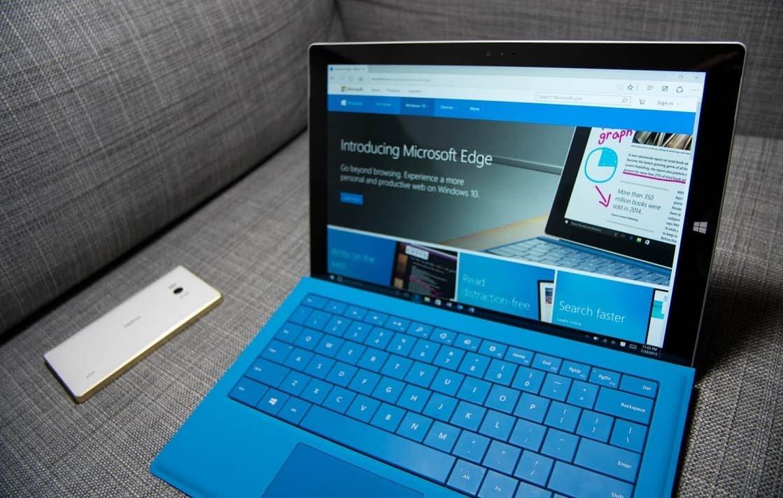 Microsoft edge no suface