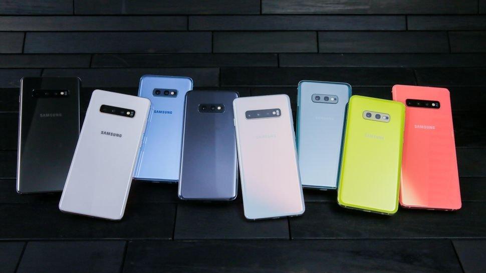 samsung galaxy s10 linha de smartphones