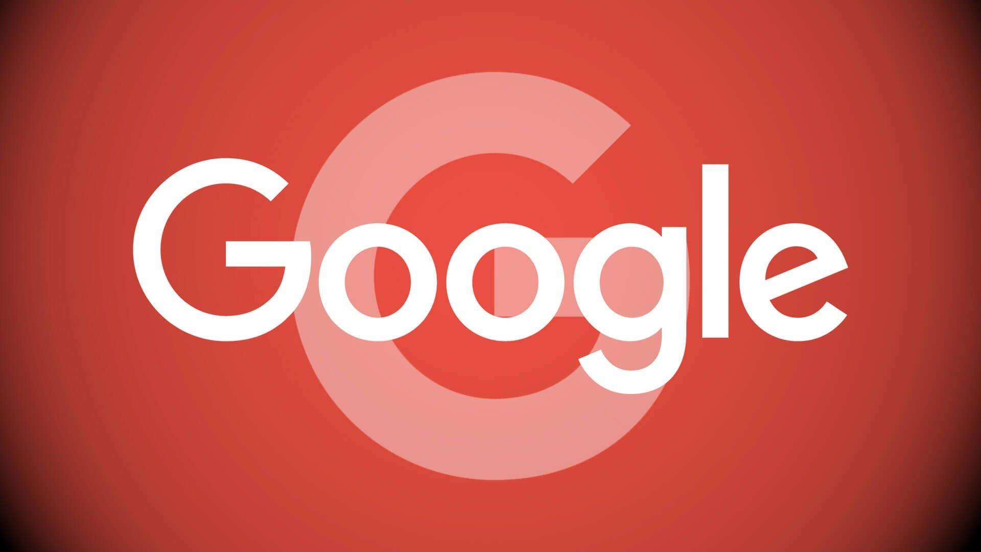 Logo da google em vermelho
