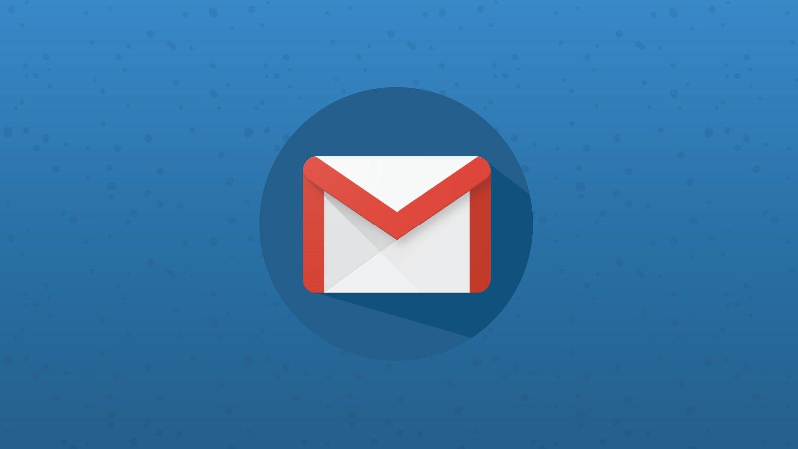 logo do gmail em fundo azul