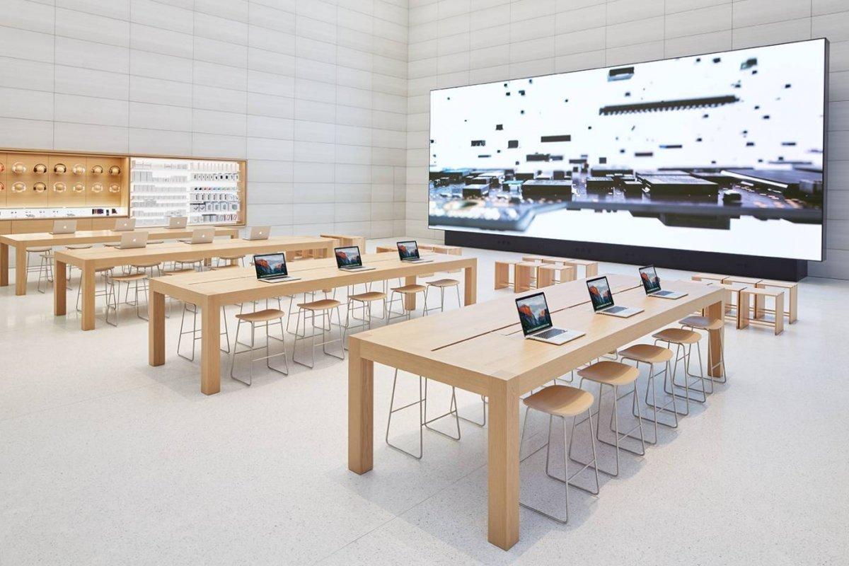 Loja da Apple no interior