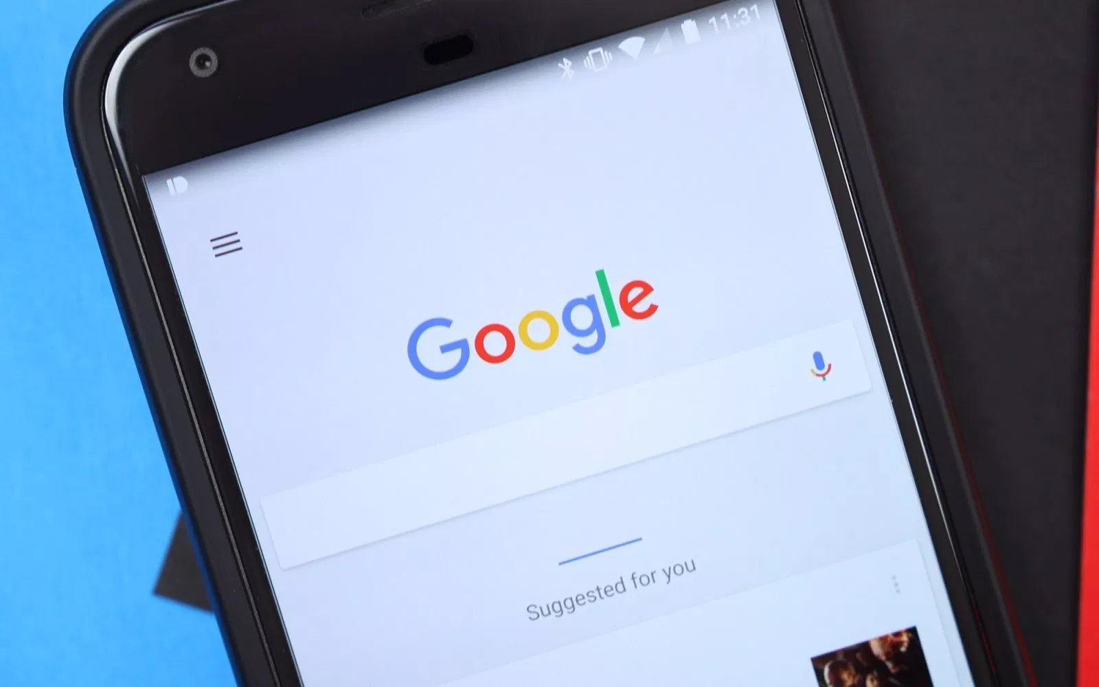aplicação de pesquisa da Google no Android