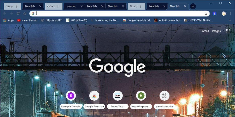 agrupamento de abas no Google Chrome