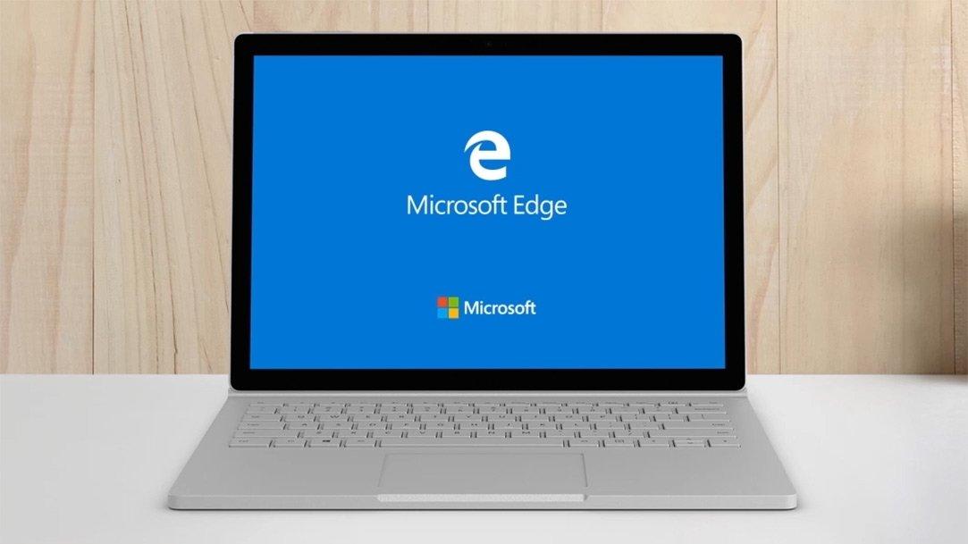 Microsoft edge sobre um sistema surface