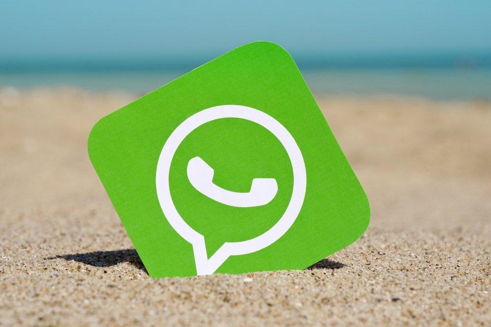 WhatsApp na praia