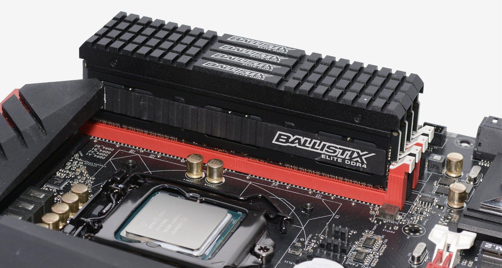 Memória RAM em motherboard