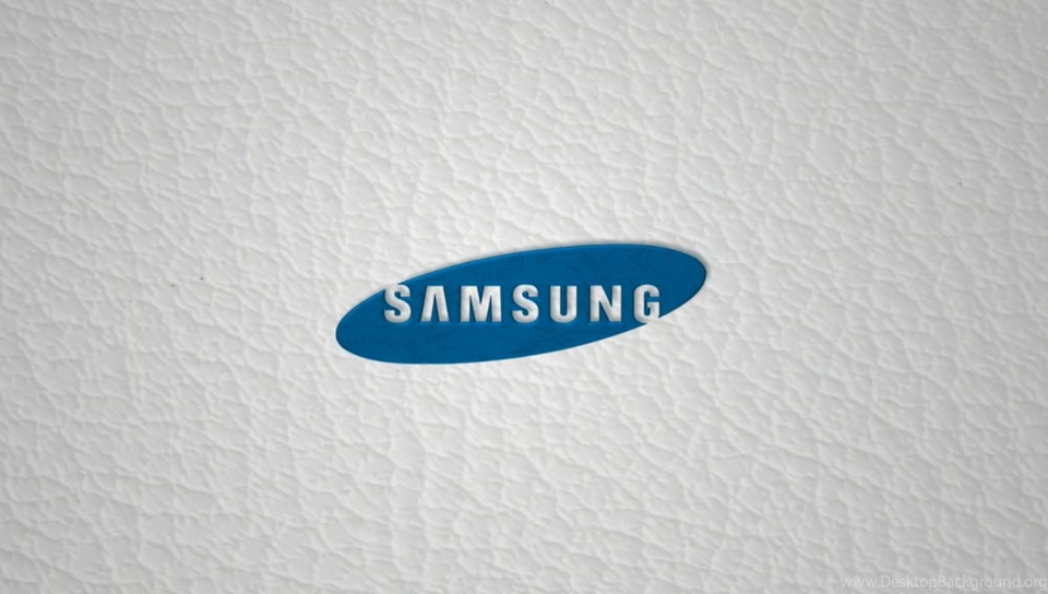 Samsung logo sobre pele