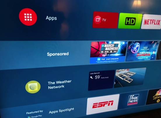 android tv publicidade