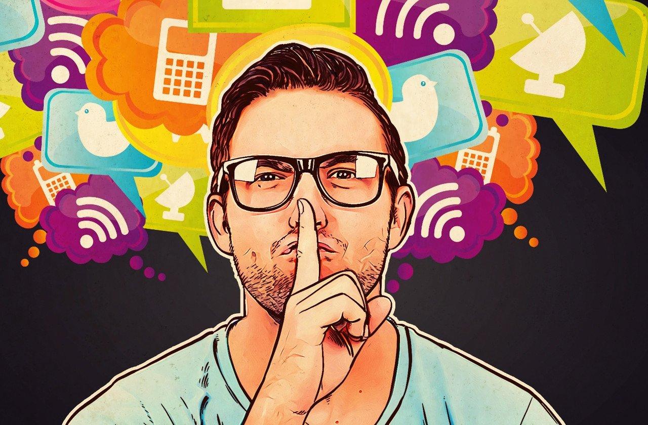 silencio nas redes sociais