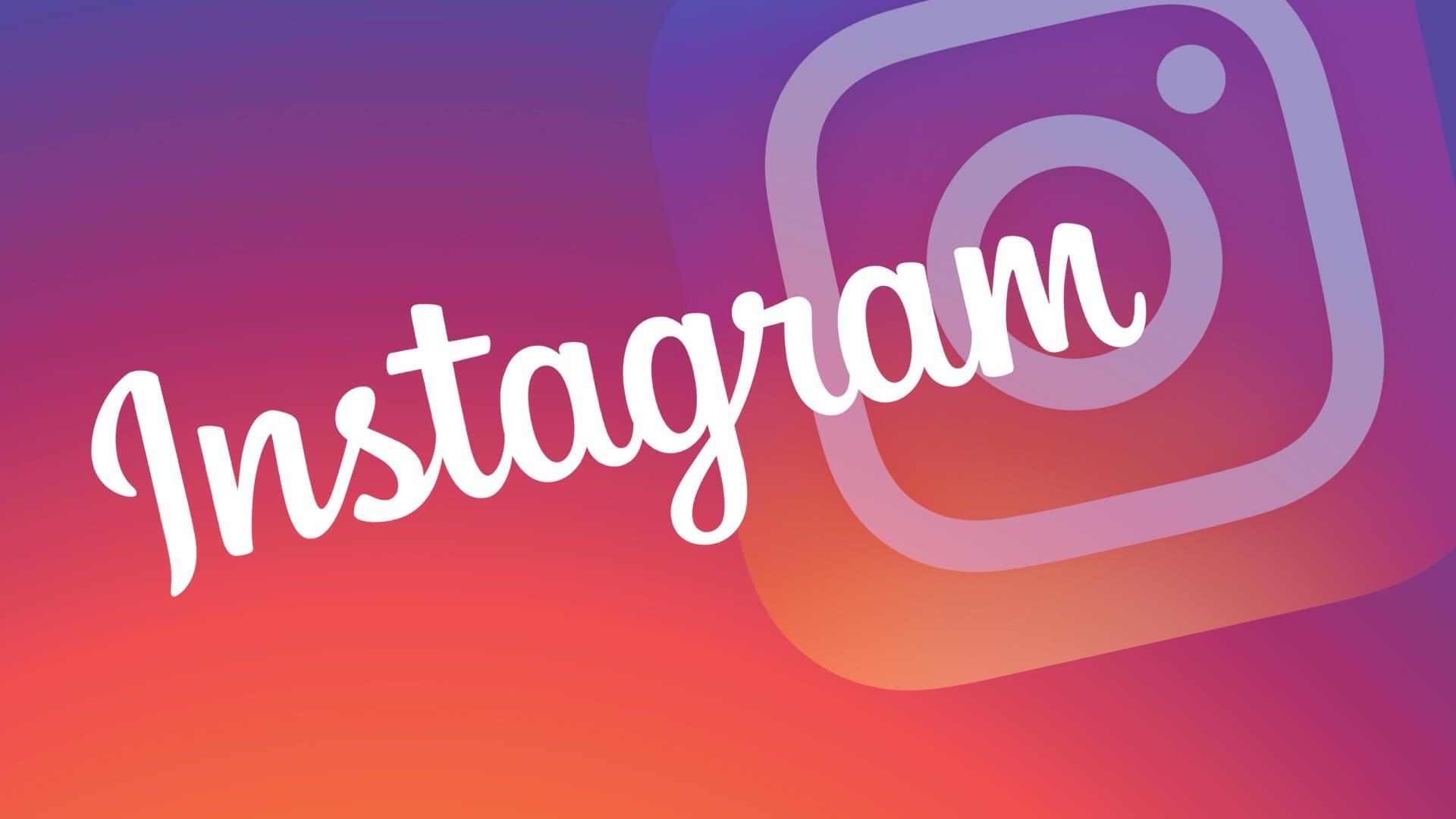 Imagem do Instagram sobre fundo cor de rosa
