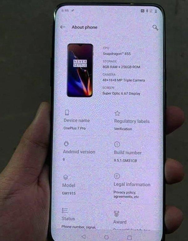 características OnePlus 7 pro