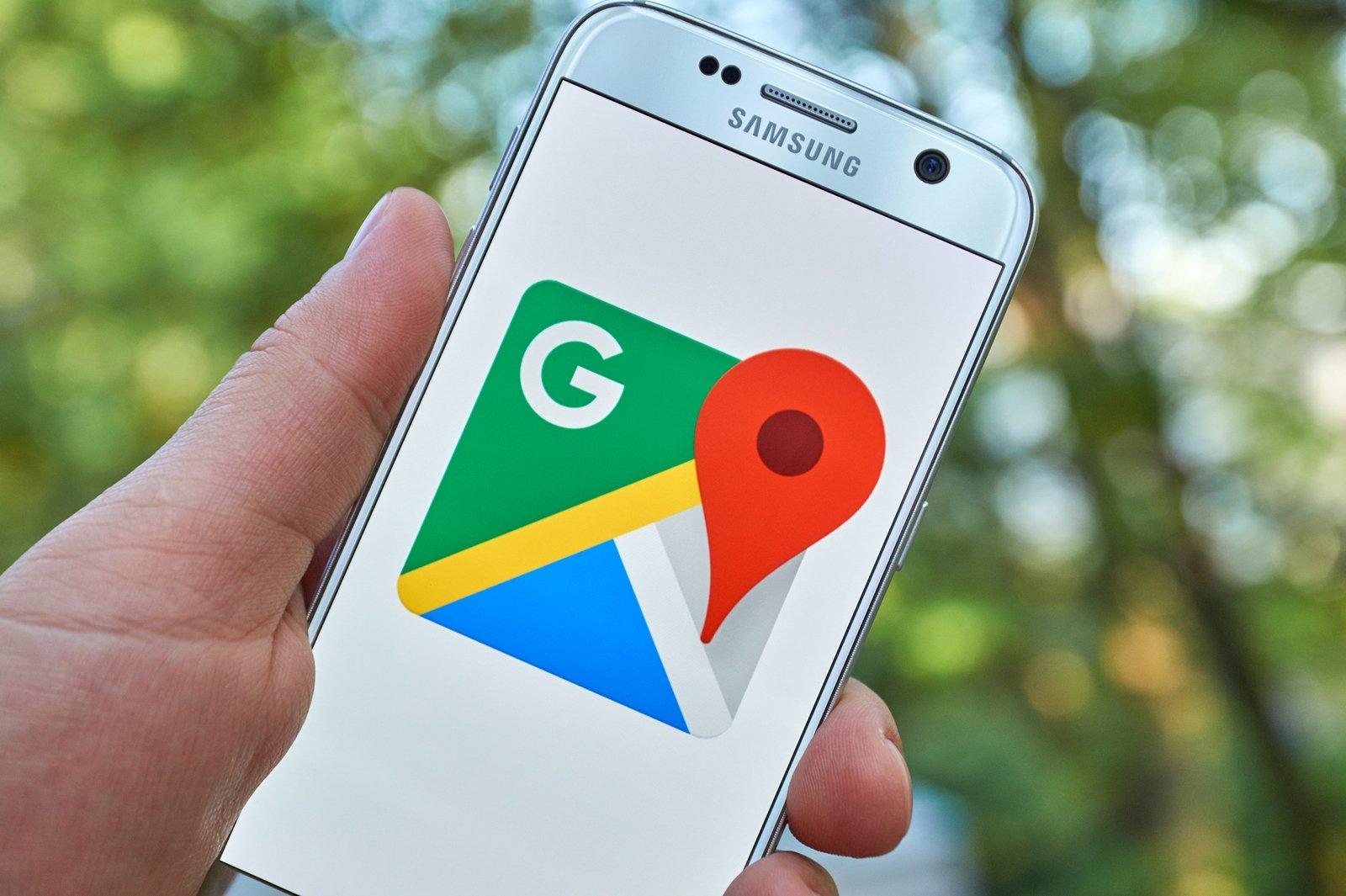 google maps em smartphone