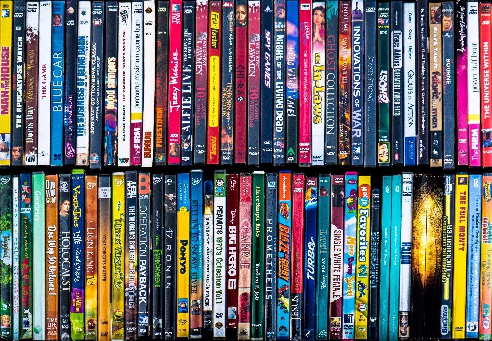 caixas de DVDs