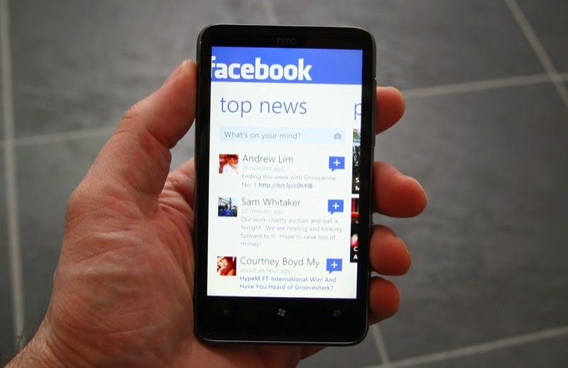 Facebook no windows phone