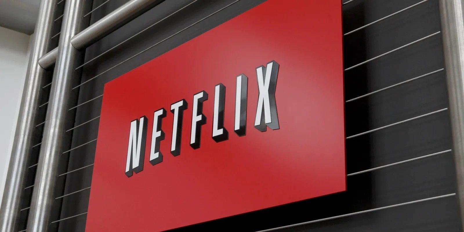 Netflix logo sobre ecrã