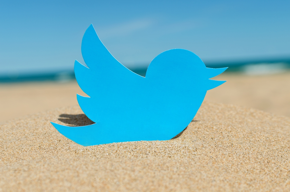 twitter na praia