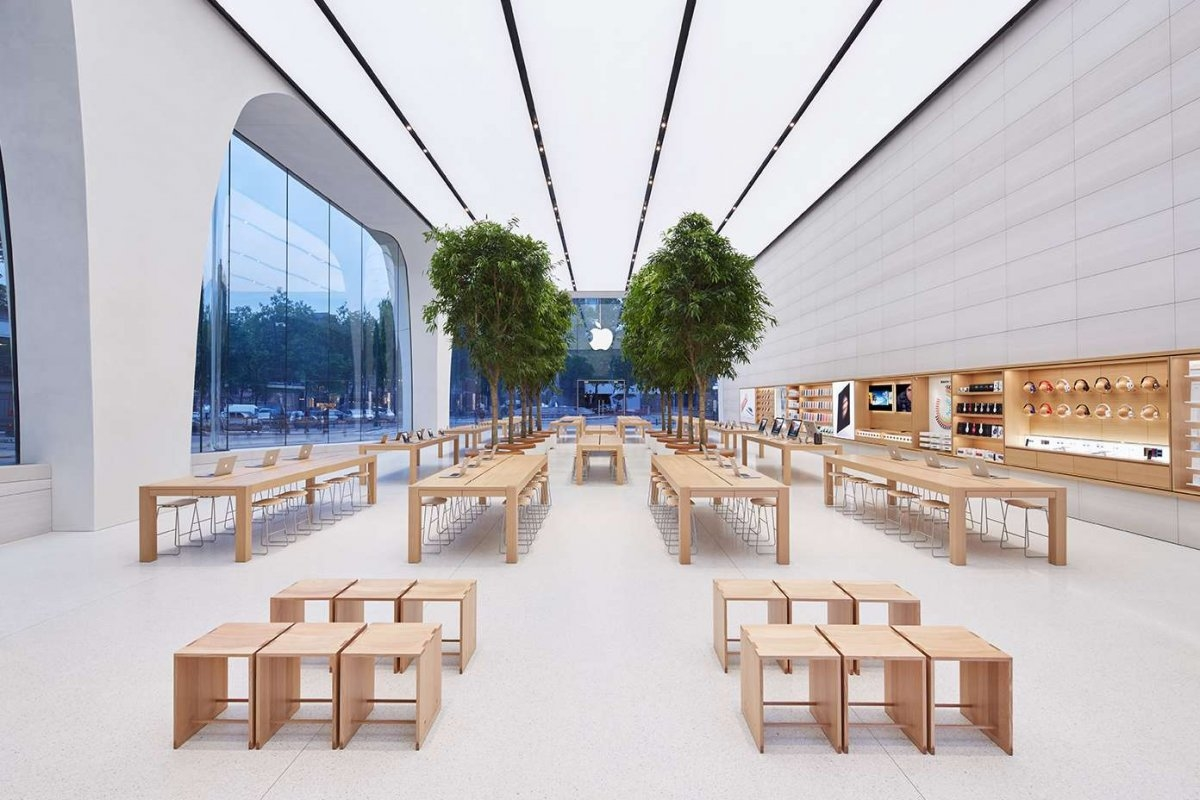 Apple store no interior