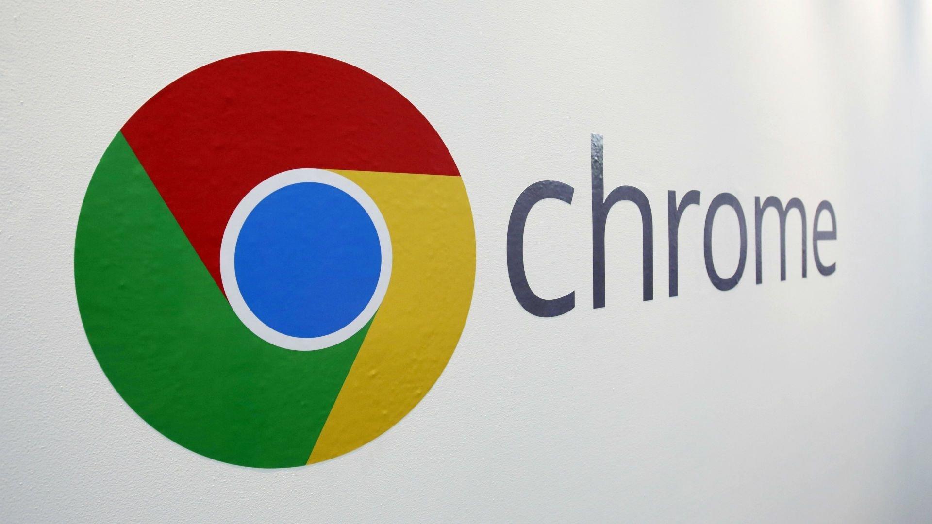Google chrome sobre parede
