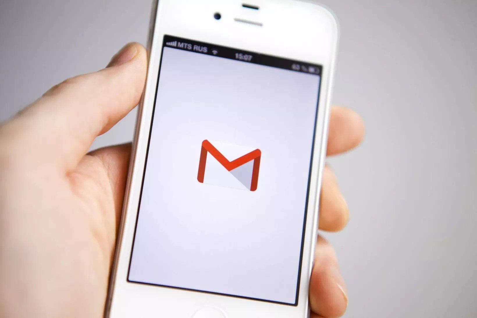 gmail em smartphone