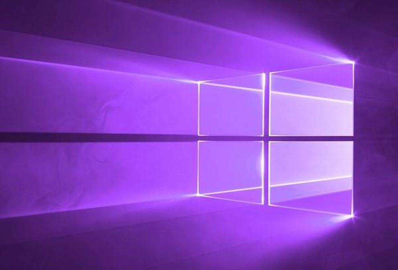 Windows 10 logo roxo