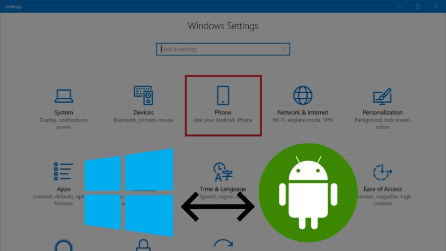 Windows 10 notificações do android e interligar smartphone