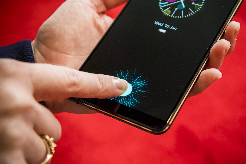 leitor biométrico em smartphone