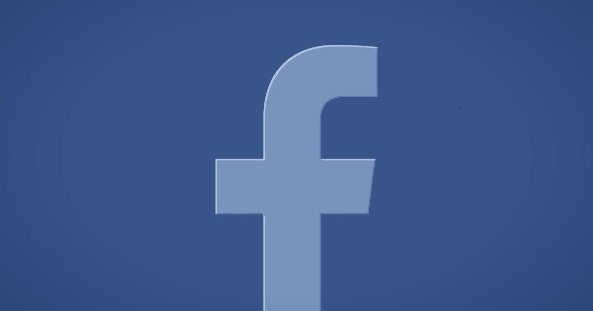 Facebook logo sobre azul