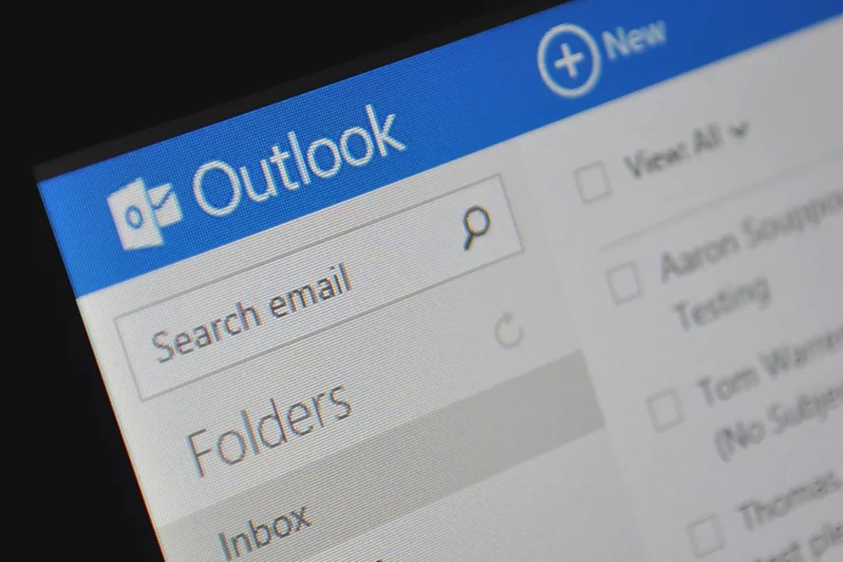 Interface do Outlook online