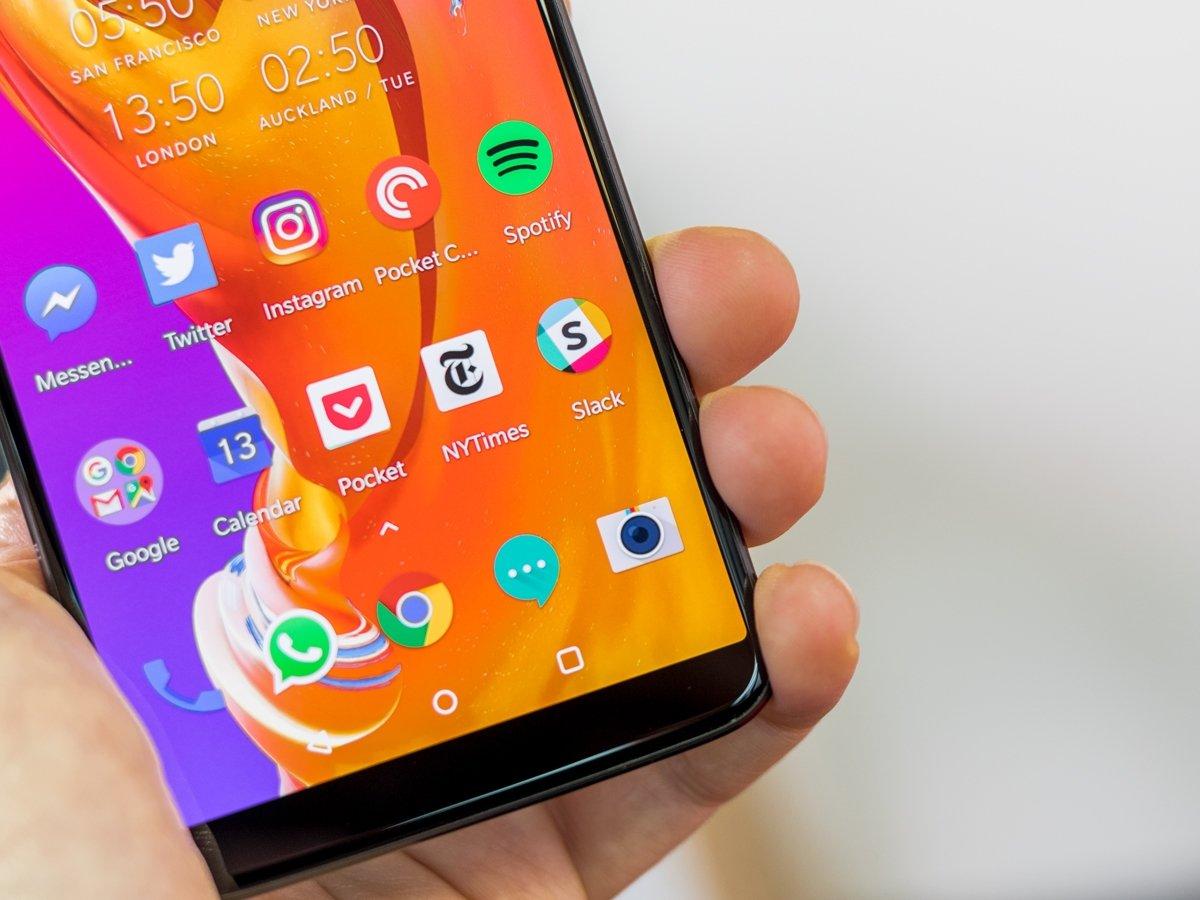 aplicações para android no home screen