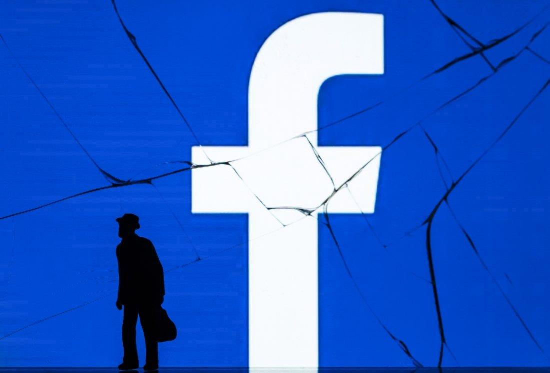 Facebook sobre vidro