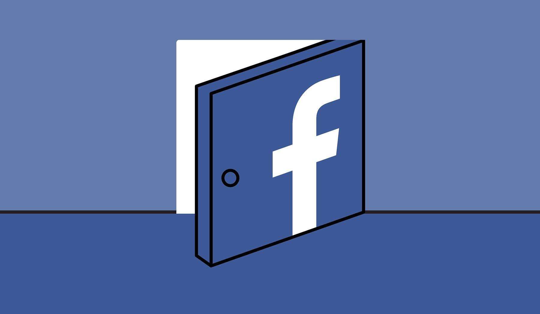 Porta do Facebook